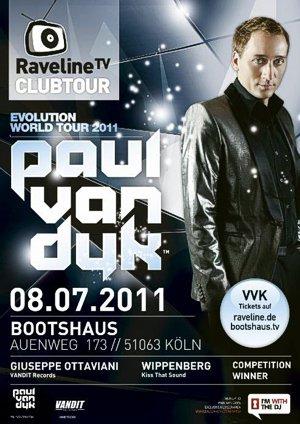 Paul van Dyk heute Abend im Bootshaus Köln