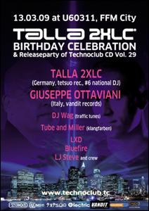 Technoclub @ U60311 - Talla 2XLC Birthday Celebration