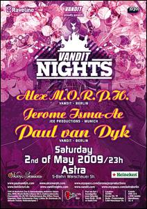 Vandit Night mit Alex M.O.R.P.H. und Paul van Dyk